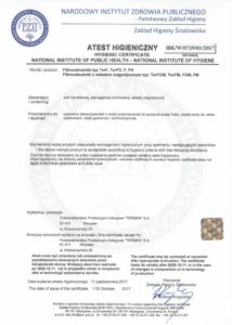 Hygienic Certificate for Strainers and Impurity Separator