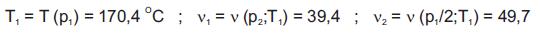 Określenie temperatury pary i współczynników objętościowych