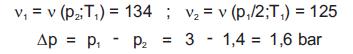 Określenie temperatury pary i współczynników objętościowych:
