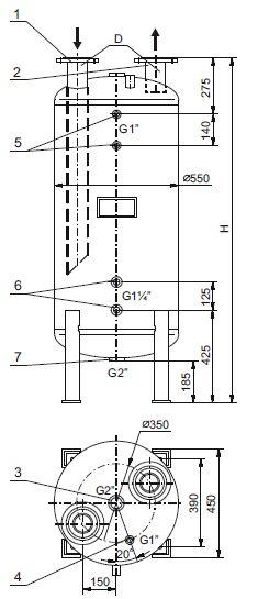 Stabilizator temperatury ciepłej wody użytkowej SCWA - wymiary i budowa