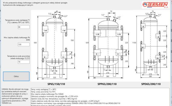 Aplikacja doboru sprzęgła hydraulicznego