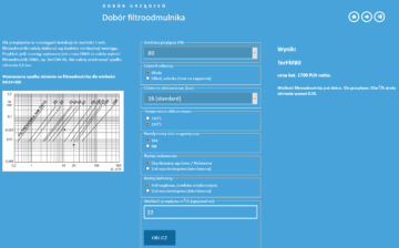 kalkulator doboru filtroodmulnika