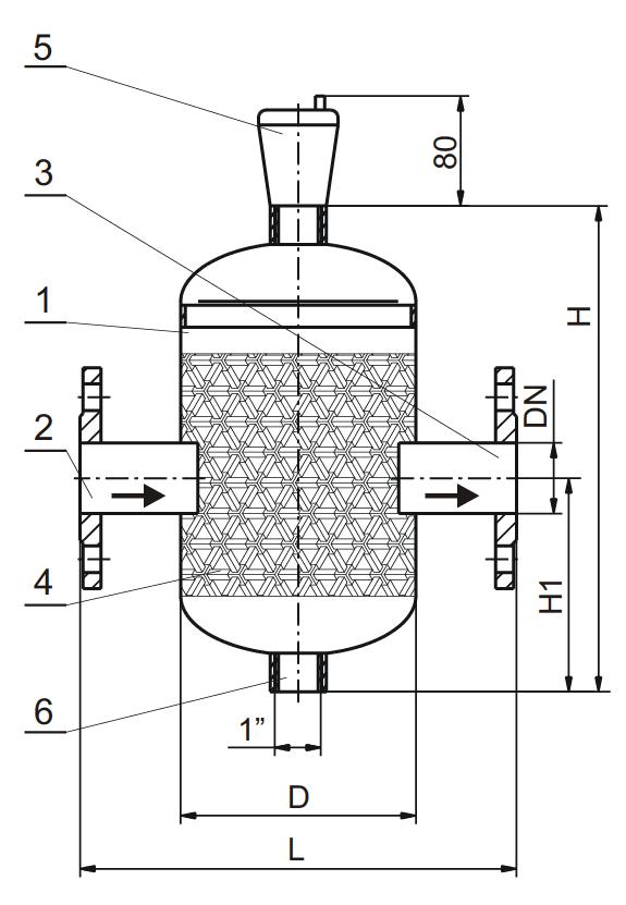 Budowa separatora powietrza i mikropęcherzy SEP