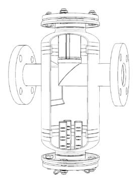 Przepływowy filtr magnetyczny